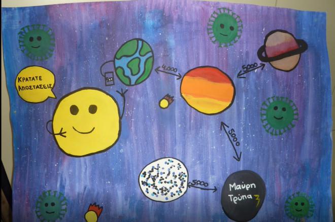 πώς βλέπουν τα παιδιά την πανδημία μέσα από ζωγραφιές