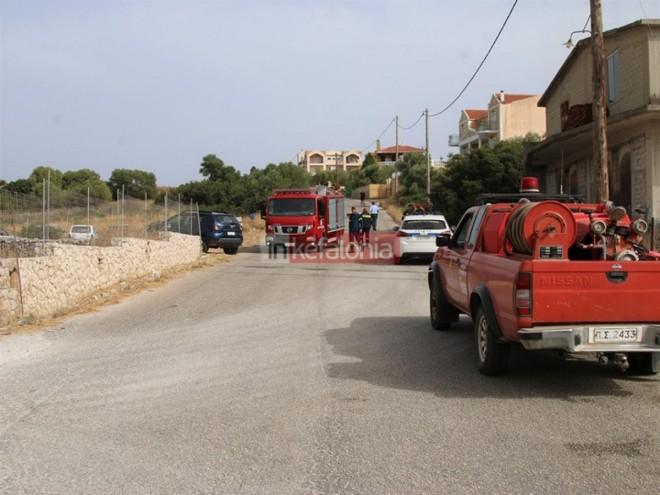 αστυνομία και πυροσβεστική στο σημείο του τροχαίου στην Κεφαλονιά