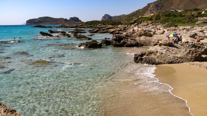 Η παραλία των Φαλάσαρνων στην Κρήτη- φωτογραφία ΙΝΤΙΜΕ