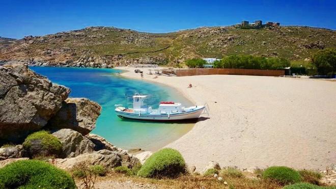 Μύκονος - παραλία Αγράρι