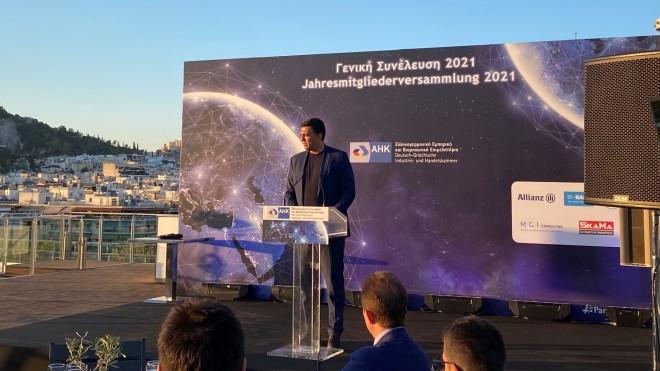 Κεντρικός ομιλητής στη Γενική Συνέλευση του Ελληνογερμανικού Εμπορικού και Βιομηχανικού Επιμελητηρίου ο Βασίλης Κικίλιας