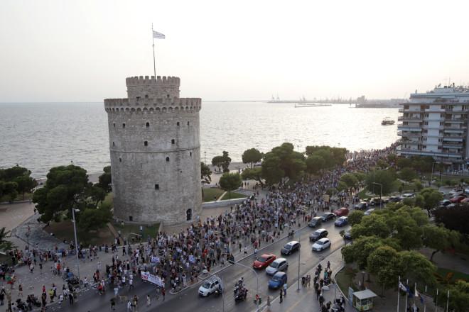 Αντιεμβολιαστική συγκέντρωση στη Θεσσαλονίκη στις 14/7-φωτογραφία Eurokinissi