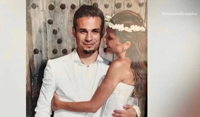 Φωτογραφία από τον γάμο του ζευγαριού το 2003
