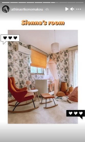 Το παιδικό δωμάτιο της κόρης της Αθηνάς Οικονομάκου