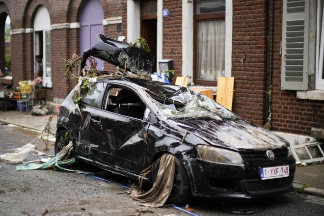Kαταστροφές από τις πλημμύρες στο Βέλγιο- φωτογραφία ΑΡ