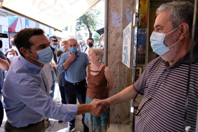 Αλέξης Τσίπρας βόλτα στο Ηράκλειο Κρήτης