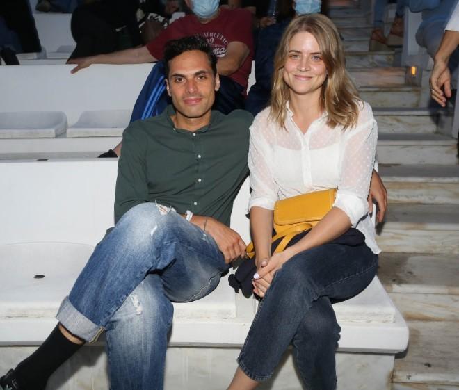 Ο Γιώργος Παπαγεωργίου και η Δανάη Μιχαλάκη στο Βεάκειο θέατρο στα τέλη του περασμένου Ιουνίου /Φωτογραφία NDP Photo Agency