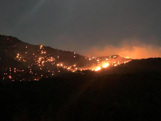 εικόνα της φωτιάς στο Λασίθι