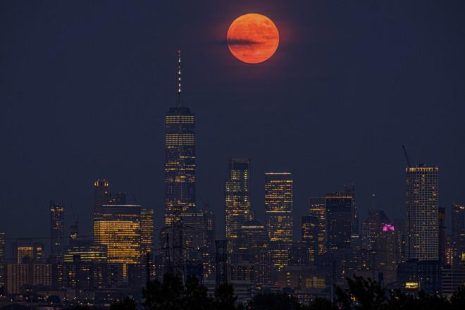 Το «φεγγάρι του Ελαφιού» από τη Νέα Υόρκητον Ιούλιο του 2019- φωτογραφία ΑΡ