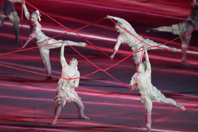 Χορευτικά στην τελετή έναρξης τωνΟλυμπιακών Αγώνων- φωτογραφία ΑΡ