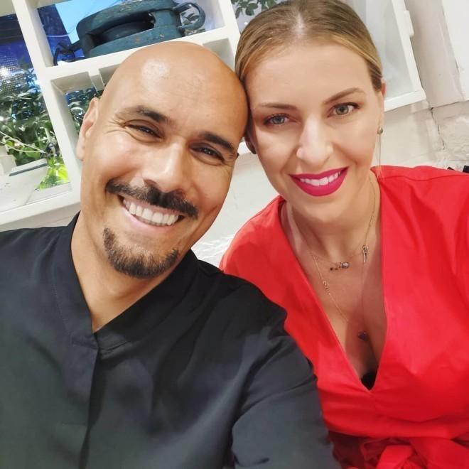 Ο Δημητρης Σκουλός με τη σύζυγό του, Τζέλα