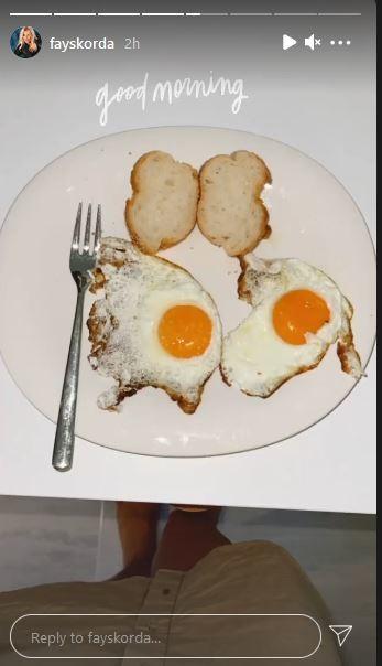 Το θρεπτικό πρωινό που απόλαυσε η Φαίη Σκορδά