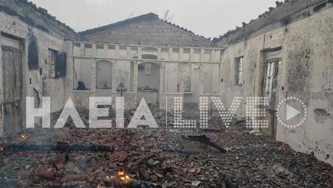 Κάηκε οναός του Προφήτη Ηλία στον Πλάτανο Ηλείας- πηγή ilialive