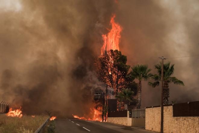 Στις φλόγες τυλίχθηκαν περιουσίες- φωτογραφία Eurokinissi