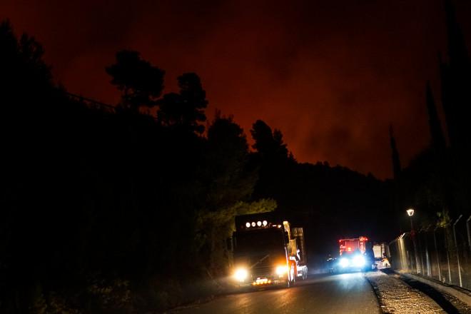 Φωτιά στην Αρχαία Ολυμπία- φωτογραφία Eurokinissi