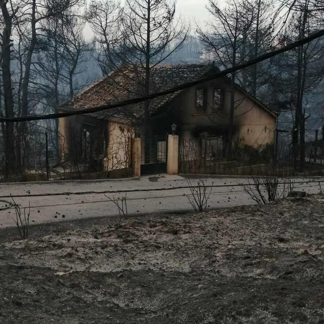νανσυ νικολαιδου καηκε το σπίτι της φωτια δροσοπηγή φωτια αττική αγιος στεφανος