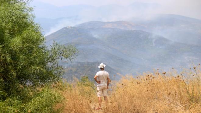 Το μέτωπο στη Μέλπεια Μεσσηνίας - φωτογραφία ΙΝΤΙΜΕ