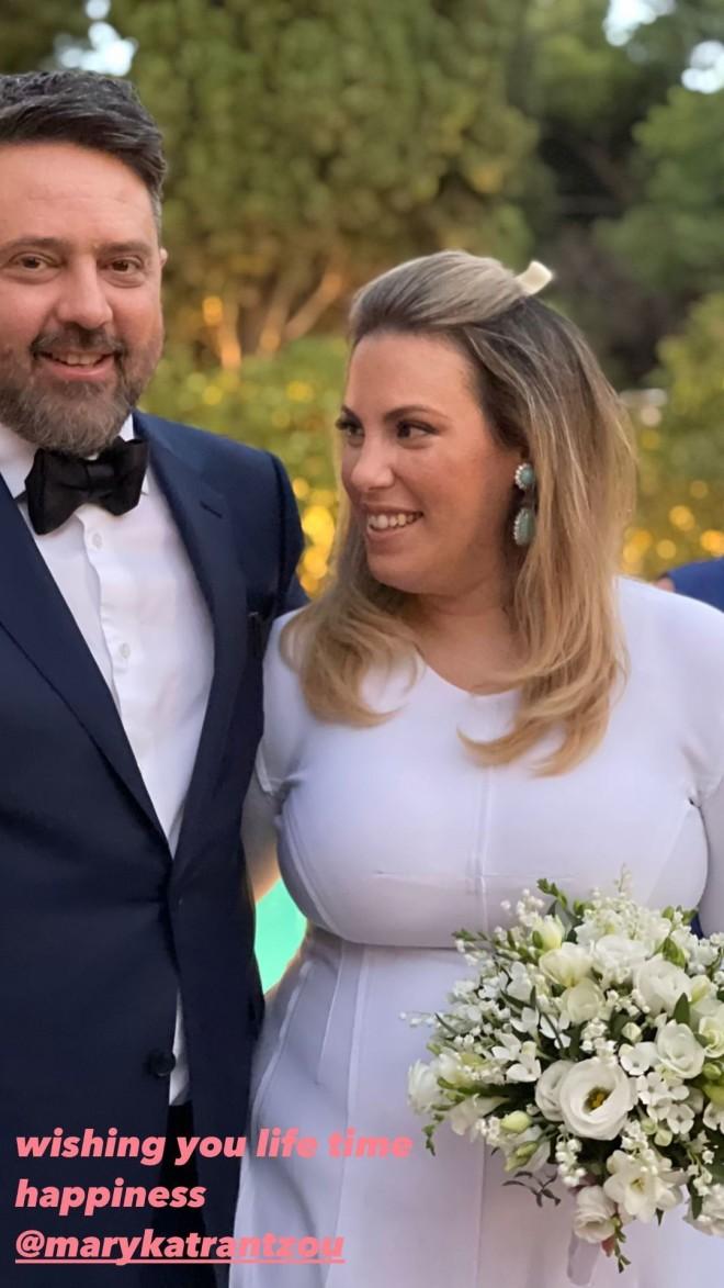 Μαίρη Κατράντζου γάμος