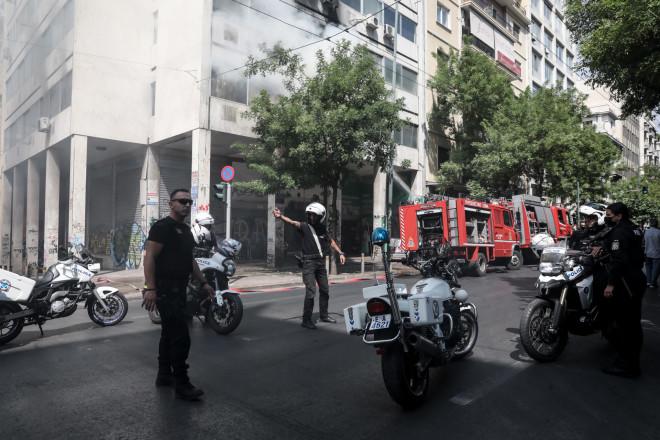 φωτιά κτίριο Αθήνα
