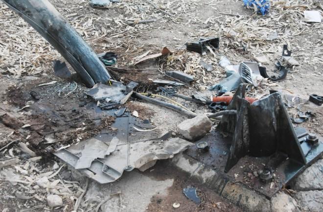 Εικόνα από το σημείο του δυστυχήματος