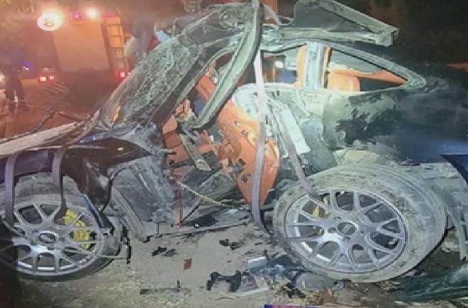 Το αυτοκίνητο του Mad Clip μετά τη σύγκρουσή του