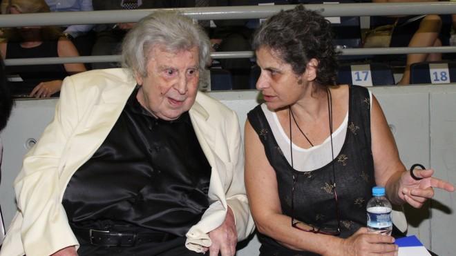 Ο Μίκης Θεοδωράκης και η κόρη του, Μαργαρίτα- φωτογραφία NDP
