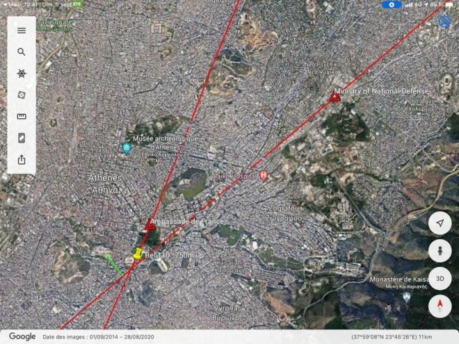 Η διαδρομή που ακολούθησαν τα γαλλικά Rafale για την πτήση τους πάνω από την Αθήνα