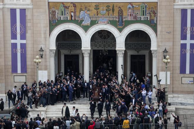 Μίκης Θεοδωράκης - κηδεία Μητρόπολη