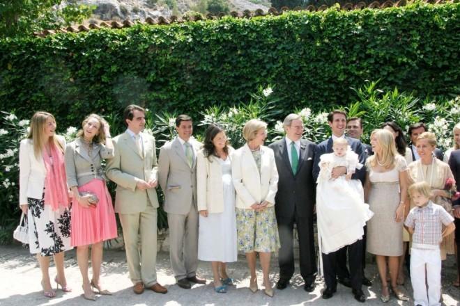 Τέως βασιλική οικογένεια  σε βάφτιση μέλους της