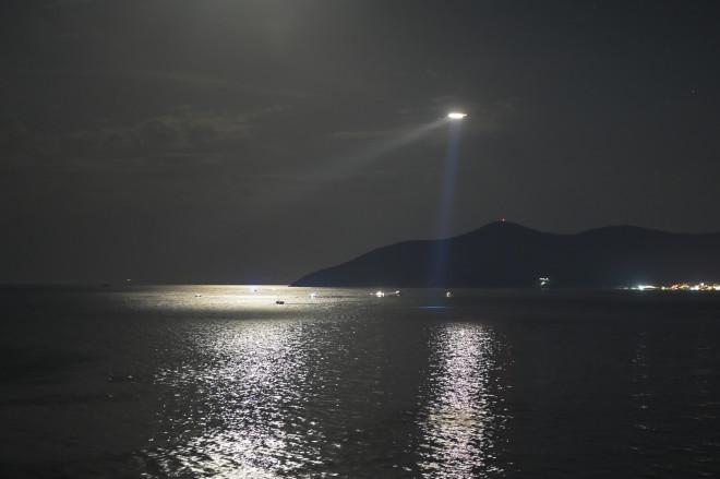 Φωτογραφία από τη θαλάσσια περιοχή όπου γίνονταν οι έρευνες στη Σάμο - πηγήEurokinissi