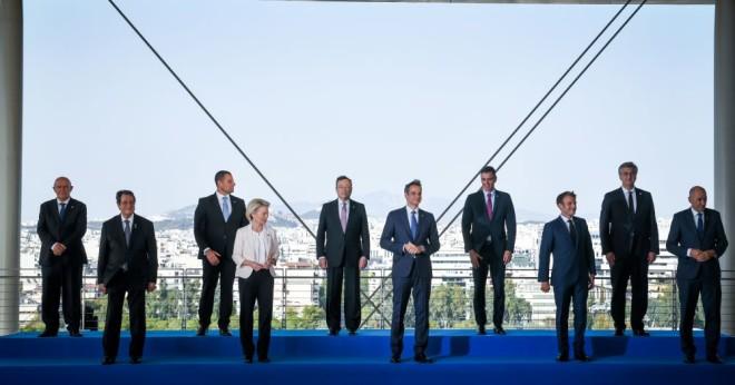 Οι EUMED 9 και η πρόεδρος της Κομισιόν Φον Ντερ Λάιεν στη σύνοδο της Αθήνας