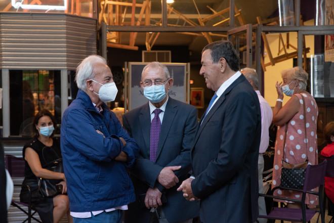 Ο δημοσιογράφος Τάσος Παπαδόπουλος με τον αντιστράτηγο Δημήτριο Λυμπέρη και τον Επίτιμο Αρχηγό ΓΕΣ Φραγκούλη Φράγκο