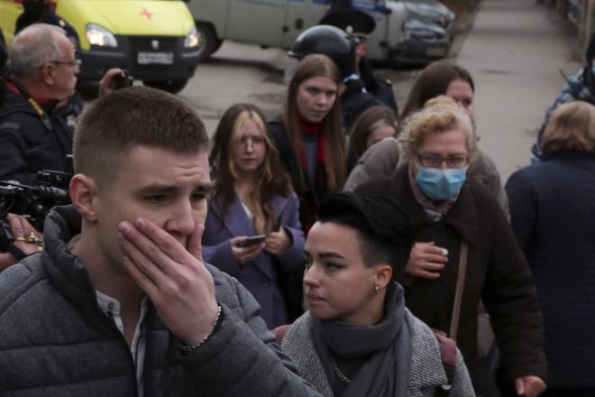 Συγκλονισμένοι φοιτητές καικαθηγητές από την ένοπλη επίθεση στο πανεπιστήμιο- φωτογραφία ΑΡ