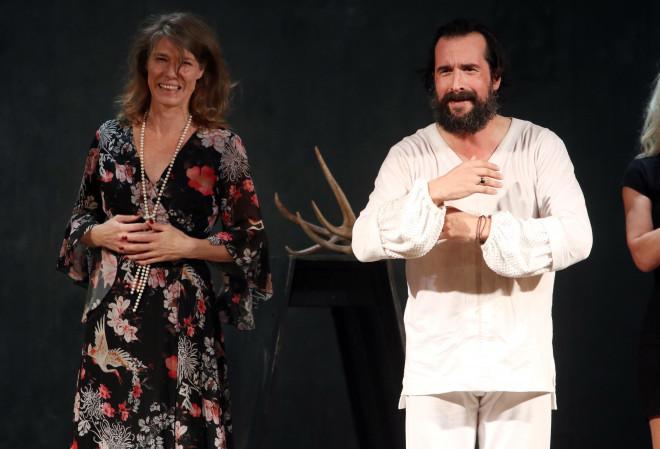 Ο Τάσος Νούσιας με τη σύζυγό του Marlene Kaminsky
