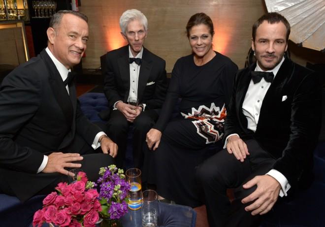 Tom Hanks Richard Buckley Rita Wilson Tom Ford