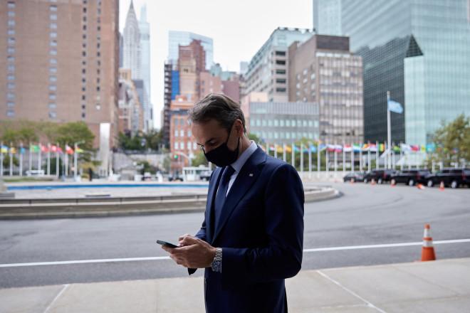 Επίσκεψη Μητσοτάκη στη Νέα Υόρκη- φωτογραφία Eurokinissi