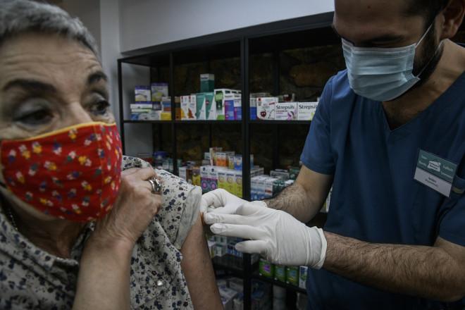 Εμβολιασμός κατά της γρίπης σε φαρμακείο