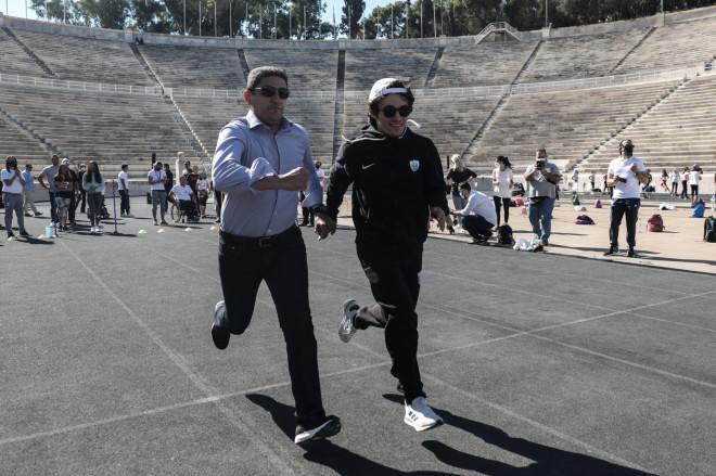 Στο Καλλιμάρμαρο για τηνΗμέρα Σχολικού Αθλητισμού έτρεξε ο Λευτέρης Αυγενάκης- φωτογραφία Eurokinissi