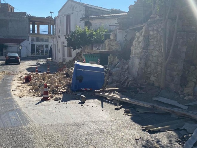 καταστροφές σεισμός κρήτη