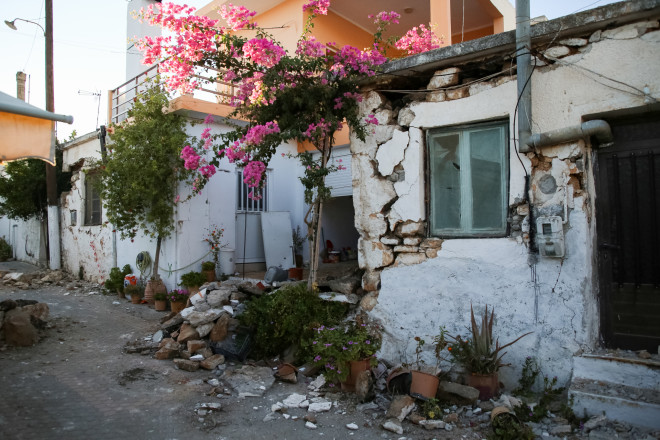 Kαταστροφές στο Αρκαλοχώρι -φωτογραφία Eurokinissi