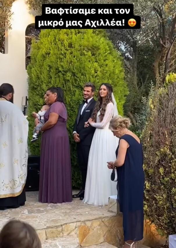 Άκης Πετρετζίκης: Δημοσίευσε βίντεο από το γάμο του με την Κωνσταντίνα Παπαμιχαήλ και τη βάφτιση του γιου τους
