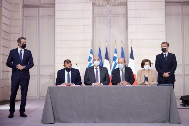 υπογραφή συμφωνίας Ελλάδας Γαλλίας στο Παρίσι