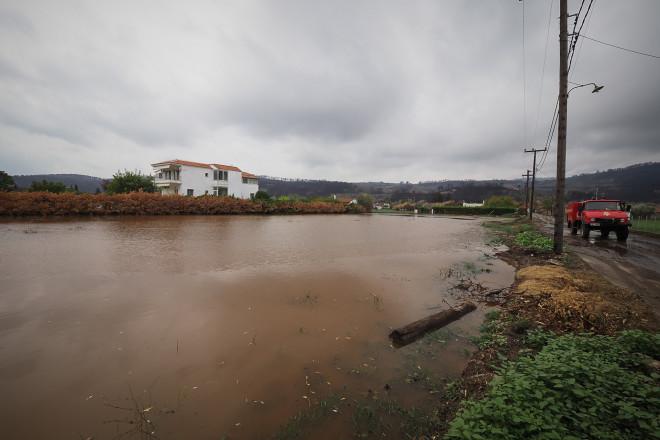 Πολλές περιοχές επλήγησαν από την κακοκαιρία Αθηνά στη Βόρεια Εύβοια/EUROKINISSI