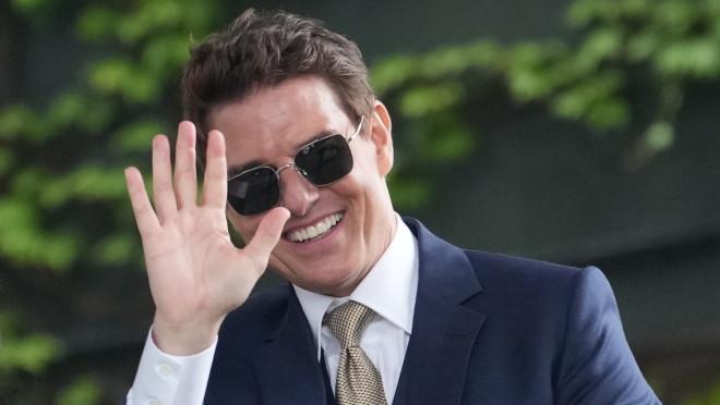 Ο Tom Cruise από την εμφάνισή του σε αγώνα τένις στο Wimbledon τον Ιούλιο/ φωτογραφία AP