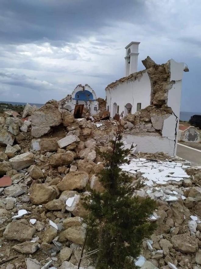 σεισμός Κρήτη εκκλησάκι