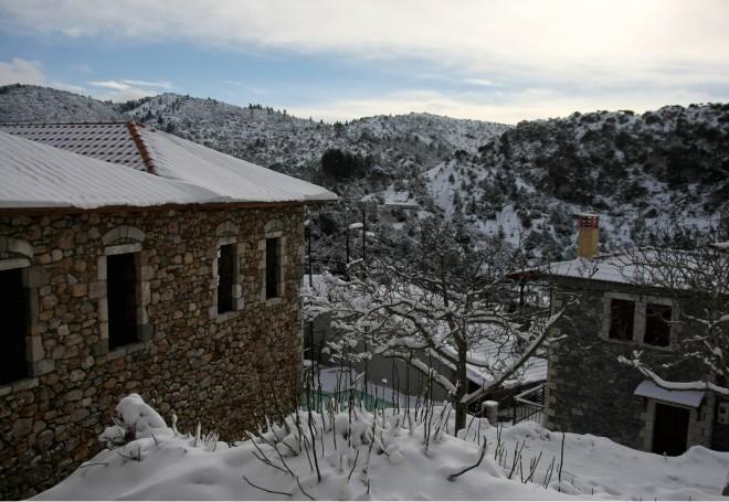 Δημητσάνα χιονι
