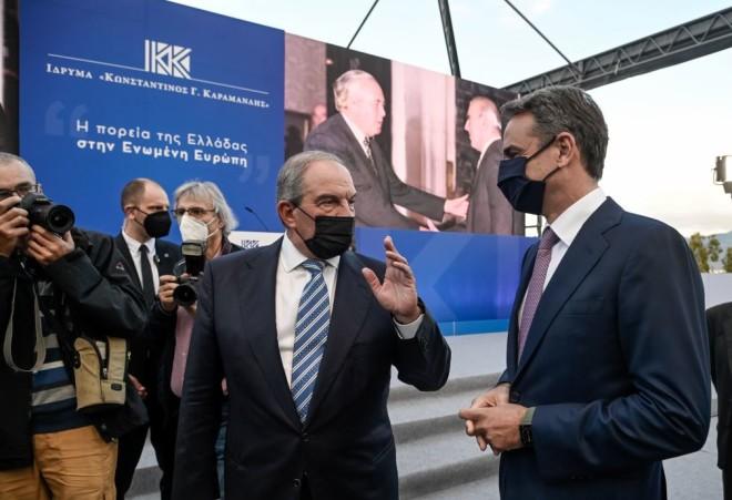 Κώστας Καραμανλής Κυριάκος Μητσοτάκης εκδήλωση 47 χρόνια ΝΔ
