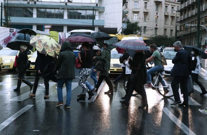 κόσμος βροχή