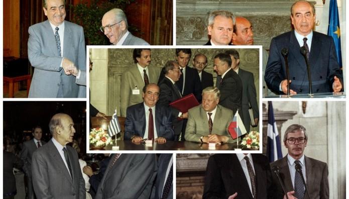 ΙΣΤΟΡΙΚΕΣ ΦΩΤΟ από το αρχείο: Ο Μητσοτάκης με Γέλτσιν, Μέιτζορ, Μιλόσεβιτς, Ντεστέν, Καραμανλή και Παπανδρέου