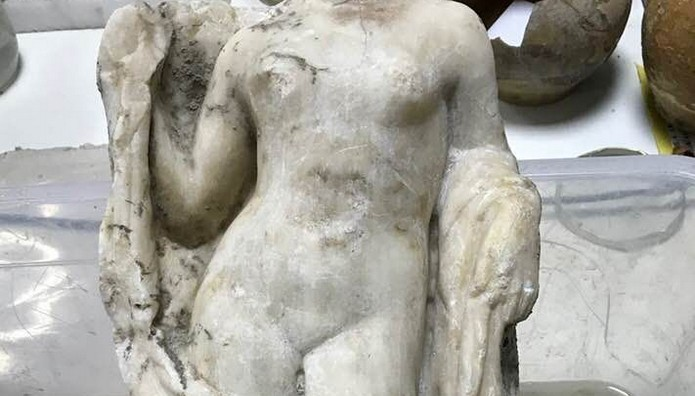Βρέθηκε ακέφαλη Αφροδίτη στο μετρό της Θεσσαλονίκης